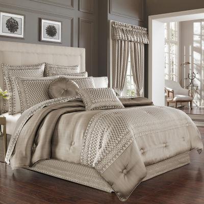 Five Queens Court Beaumont 4-pc. Jacquard Heavyweight Comforter Set