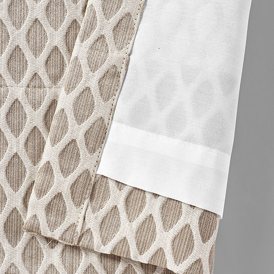 Five Queens Court Beaumont Rod-Pocket 2 Pair Curtain Panels