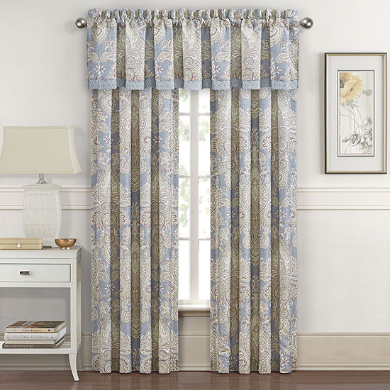 Royal Court Palermo Rod-Pocket 2 Pair Curtain Panels