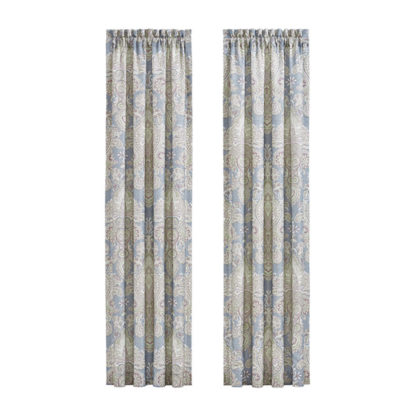 Royal Court Palermo Rod-Pocket 2 Pair Curtain Panels