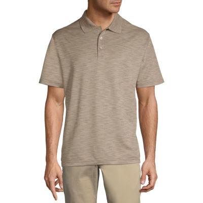 Haggar Mens Short Sleeve Polo Shirt Big and Tall