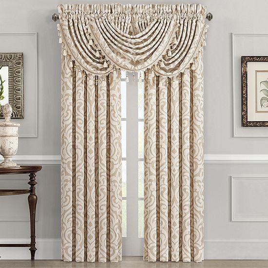 Queen Street Madrid Rod-Pocket 2 Pair Curtain Panels