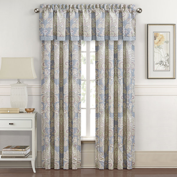 Royal Court Palermo Rod-Pocket Waterfall Valance