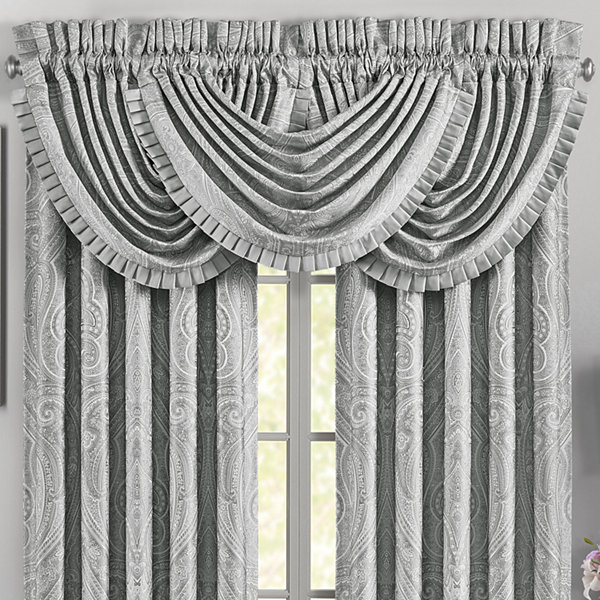 Five Queens Court Brooklyn Rod-Pocket Waterfall Valance