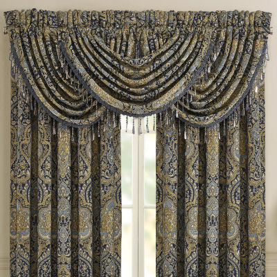 Five Queens Court Palmer Rod-Pocket Waterfall Valance