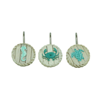 Bacova Guild Coastal Patch Shower Curtain Hooks