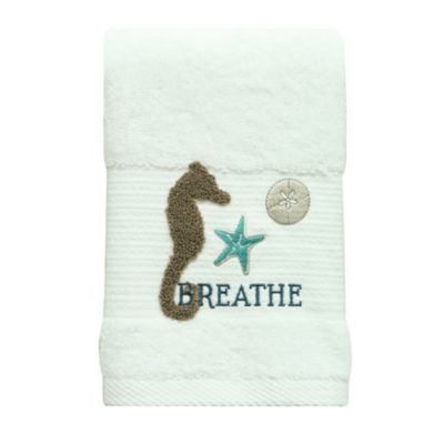 Bacova Guild Coastal Patch Beach + Nautical Hand Towel