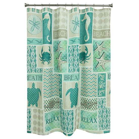 Bacova Guild Coastal Patch Shower Curtain