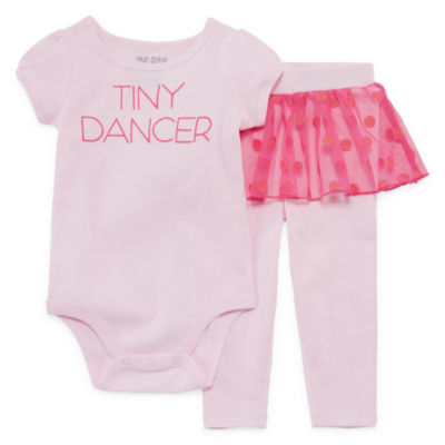 Okie Dokie 2-pc. Bodysuit Set-Baby Girls