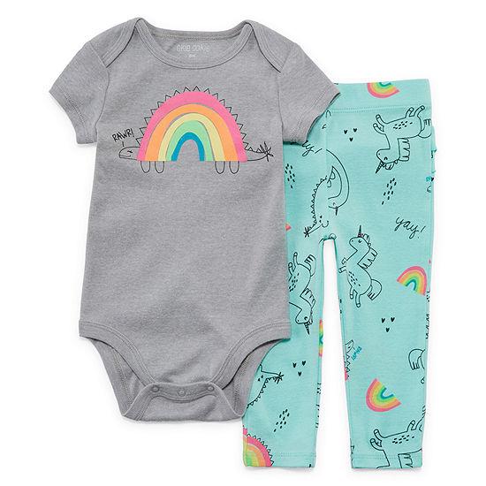 Okie Dokie 2-pc. Bodysuit Set-Baby Girls