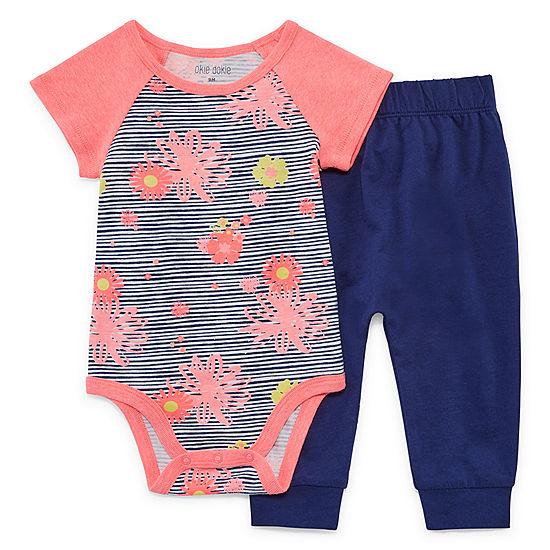 39a4339ed Okie Dokie 2-pc. Bodysuit Set-Baby Girls - JCPenney
