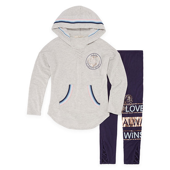 Self Esteem Long Sleeve Hooded Athleisure Set - Girls' 7-16