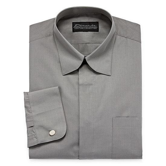 Damante - Tall Modern Mens Spread Collar Long Sleeve Dress Shirt