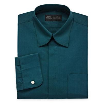 Damante Modern Mens Spread Collar Long Sleeve Dress Shirt - Tall