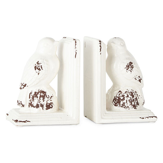 JCPenney Home Set of 2 Ceramic Bird Bookends