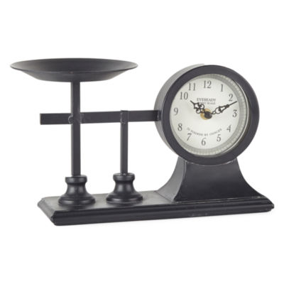 JCPenney Home Clock With Scale Tabletop Decor