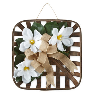 JCPenney Home Magnolia Tobacco Basket