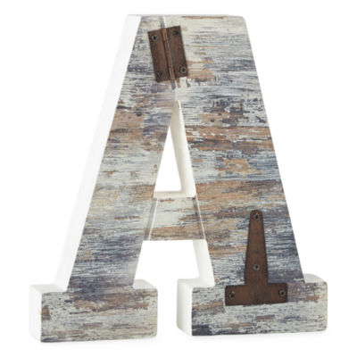 Wood and Metal Monogram Wall Art