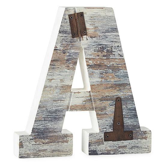 Wood and Metal Monogram Wall Art