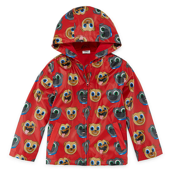 Disney Collection Boys Puppy Dog Pals Hooded Lightweight Raincoat Preschool / Big Kid