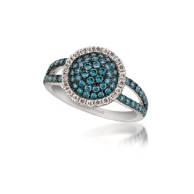 Grand Sample Sale™ by Le Vian® 7/8 CT. T. W. Vanilla Diamonds® and Iced Blueberry Diamonds® Ring in 14K Vanilla Gold®