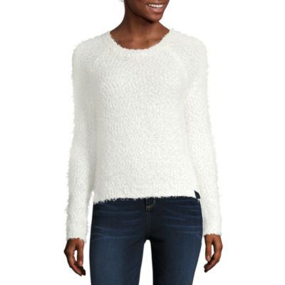 Heart N Soul Womens Round Neck Long Sleeve Sweatshirt Juniors
