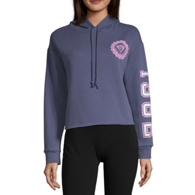 Flirtitude Womens Long Sleeve Fleece Hoodie-Juniors