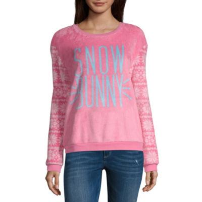 City Streets Ugly Christmas Sweater Womens Round Neck Long Sleeve Sweatshirt Juniors
