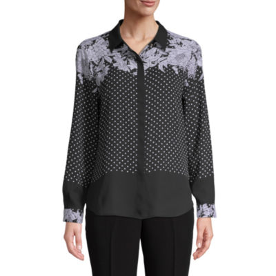 Liz Claiborne Womens Long Sleeve Blouse