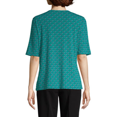east 5th A Elbow Sleeve Square Neck Knit Blouse