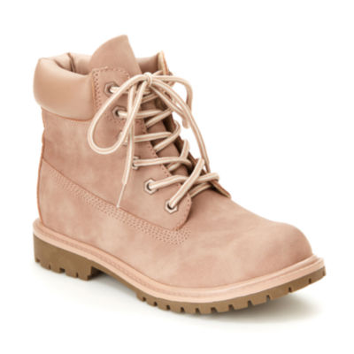 Unionbay Womens Macon Flat Heel Lace-up Boots