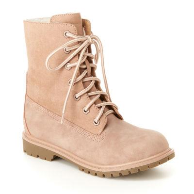 Unionbay Womens Gina Flat Heel Lace-up Boots