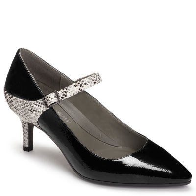 A2 by Aerosoles Womens Pumps Buckle Pointed Toe Stiletto Heel