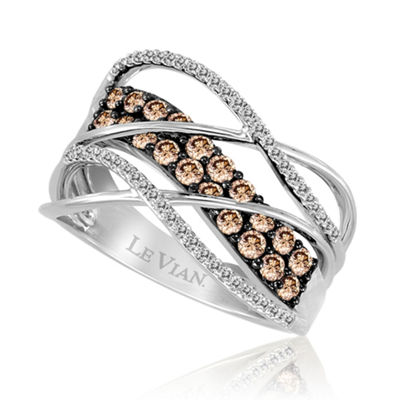 Grand Sample Sale™ by Le Vian® Gladiator Weave™ 3/4 CT. T.W. Vanilla Diamonds® and Chocolate Diamonds® Ring in 14K Vanilla Gold®