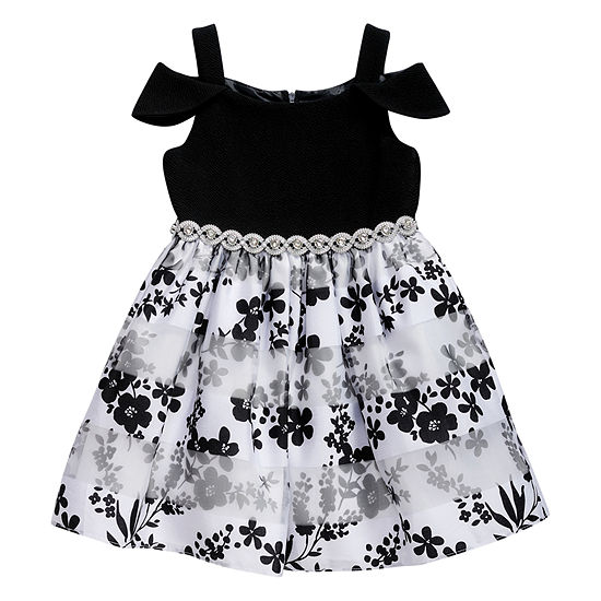 Emily West Short Cap Sleeve Party Dress - Big Kid Girls