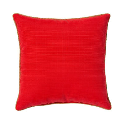Outdoor Oasis Solid Square Outdoor Pillow