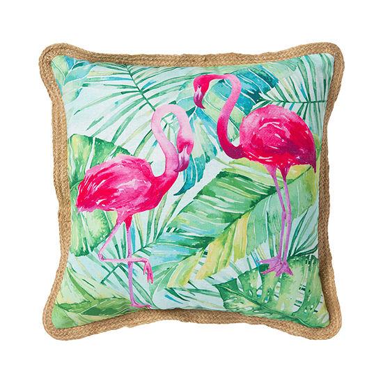 Flamingo Square Outdoor Pillow