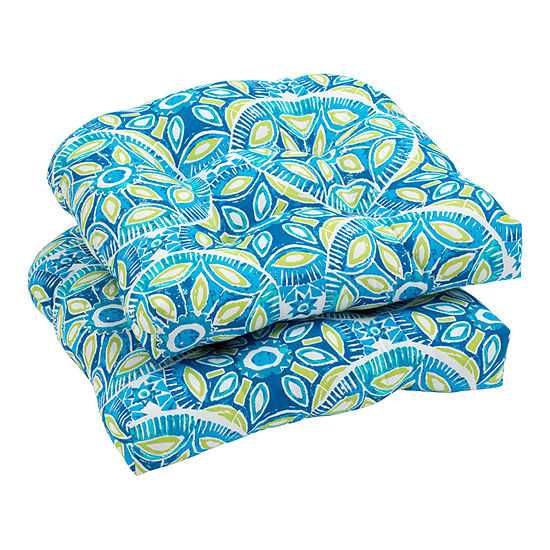 Outdoor Oasis 2-Pk Outdoor Patio Seat Cushion