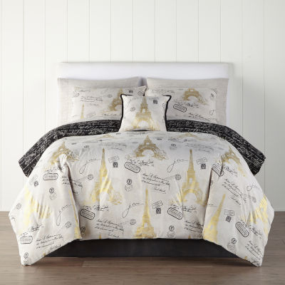 Home Expressions Paris Gold Complete Bedding Set with Sheets
