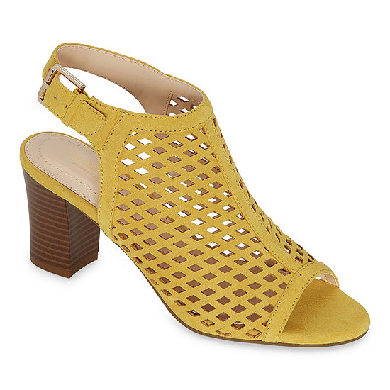 Liz Claiborne Womens Gemma Block Heel Sandals