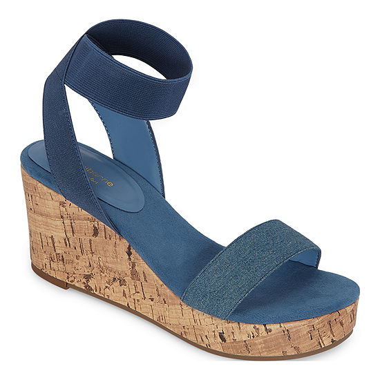 Liz Claiborne Womens Hapur Wedge Sandals
