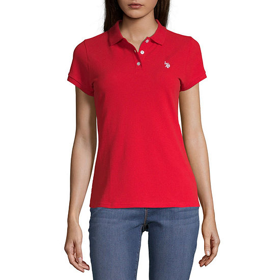 U.S. Polo Assn. Juniors Womens Short Sleeve Knit Polo Shirt