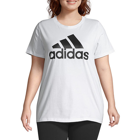 adidas Plus-Womens Crew Neck Short Sleeve T-Shirt