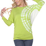 White Mark Womens Boat Neck 3/4 Sleeve T-Shirt