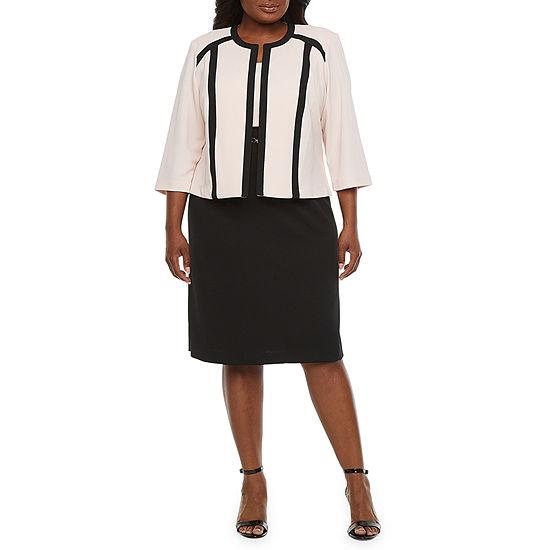 Studio 1-Plus 3/4 Sleeve Jacket Dress