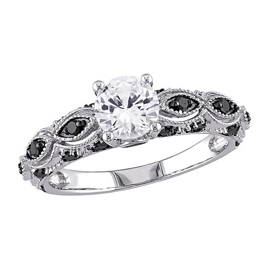 Womens 1/4 CT. T.W. Lab Created White Sapphire 10K White Gold Engagement Ring