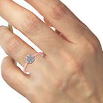 Womens 1/4 CT. T.W. Genuine White Diamond 10K Rose Gold 14K White Gold Solitaire Engagement Ring