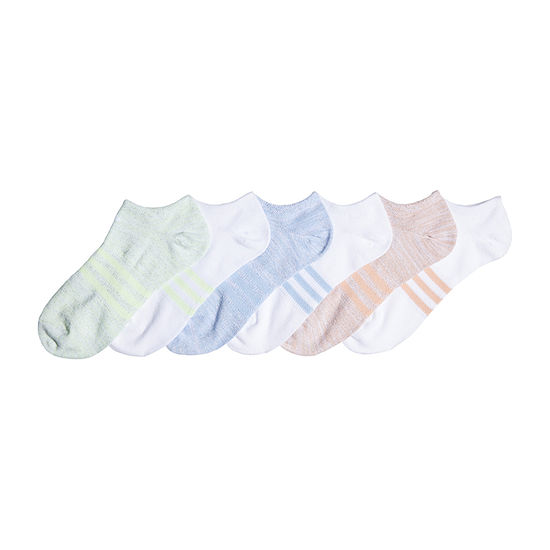adidas Superlite Girls 6 Pair No Show Socks-Big Kid