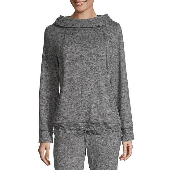 Xersion Womens Hooded Neck Long Sleeve Sweatshirt