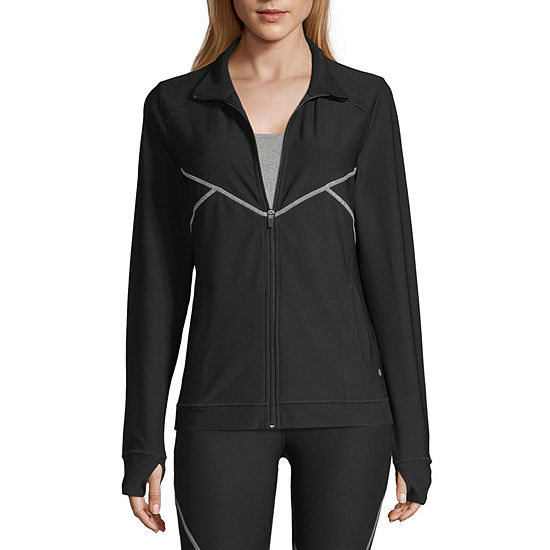 Xersion Womens High Neck Long Sleeve Quarter-Zip Pullover